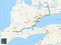 Lindsay/Peterborough area to London - Jan 18th or 19th