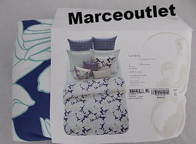 Sky Gardenia Collection 5 Piece FULL / QUEEN Duvet & Shams Set White / Blue