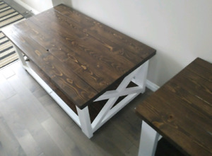 New Rustic Coffee Table with 2 End Tables set.. $550