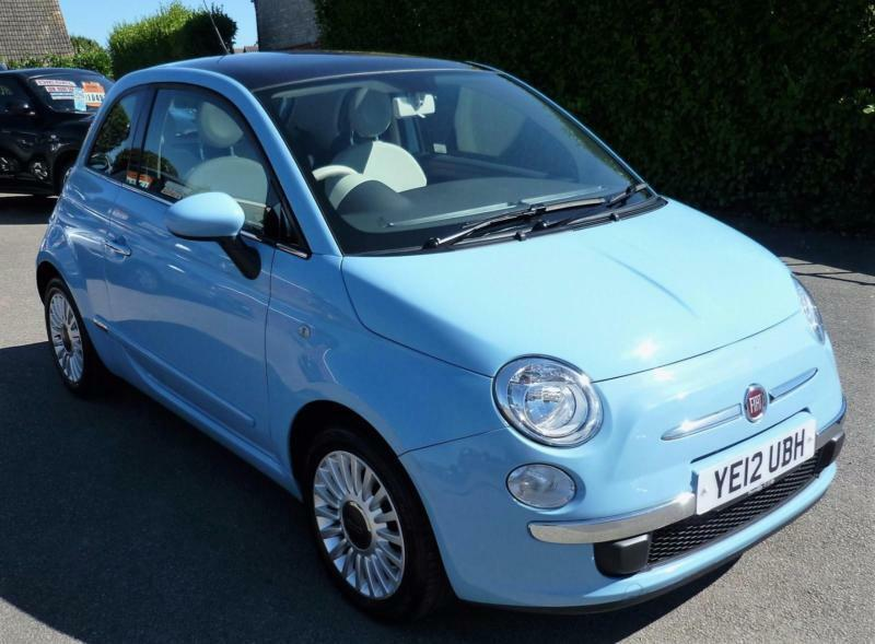 fiat 500 lounge 1 2 in retro baby blue road tax in chichester west sussex gumtree. Black Bedroom Furniture Sets. Home Design Ideas