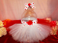 Custom handmade pet tutus, dresses and ties - Canada Day tutus!