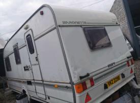 Caravan inside striped out