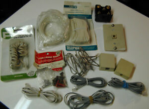 Telephone Cable, Cords, & Connector Boxes