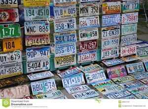American License plates - 360 plates in total