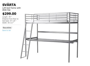 IKEA Loft bedframe with desk