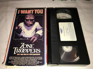 RARE!! Cult 1980's Horror Sci-Fi Comedy ZONE TROOPERS VHS Movie