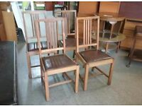XMAS SALE NOW ON!! - Four Oak Dining Chairs - Can Deliver For £19