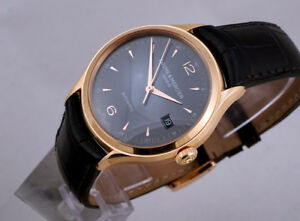 Baume & Mercier 10059 Clifton automatic with date 18K rose-gold;