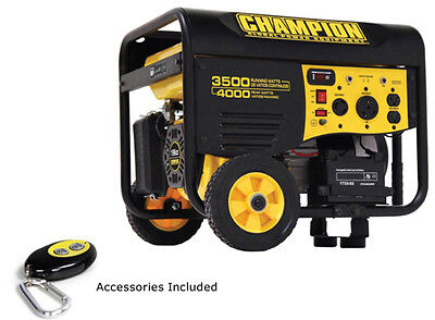 Champion 3500/4000 Watt Remote Start Portable Gas-Powered Generator 46565 NEW