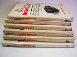 6 Fine Woodworking Hard Cover Books 1978-1985
