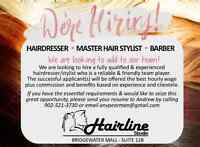 WANTED: Hairdressers, Master Stylists, Barbers to Join Our Team