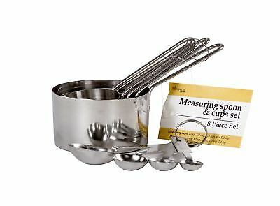 8 Pcs. Stainless Steel Measuring Cup and Spoon Set