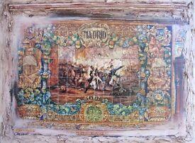 "Original Handmade Painting ""MADRID"""