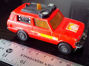MATCHBOX SPEED KINGS MODEL No K-64 RANGE ROVER FIRE CONTROL