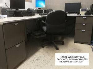 LARGE DESKS / WORKSTATIONS - BEST OFFER