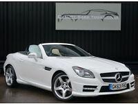 Mercedes SLK 250 CDI AMG Sport Diesel * Polar White+Nav +Pan Roof+Air Scarf etc*