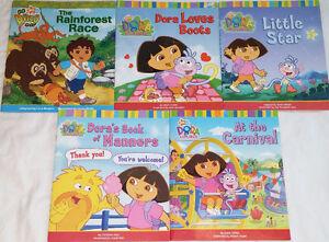 Qty 2 Sets of 5 Dora & Diego Books
