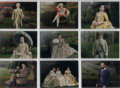 Outlander Season 2 Complete Rainbow Foil Garden of Versailles Chase Set V1-9