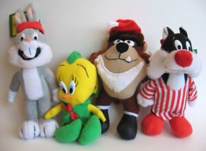 Complete Set of McDonalds Looney Tunes Plush Toys, 1992