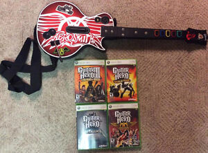 Wireless Guitar Hero Guitar With 4 Games!