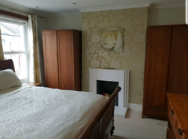 2 sturdy dark wood effect wardrobes - local delivery poss on 2nd March