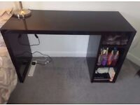 Black desk and chair in good condition, message me with offers