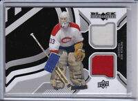 PATRICK ROY 2013-14 BLACK DIAMOND DUAL GAME WORN JERSEY CARD
