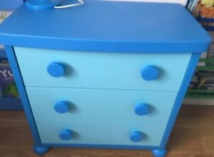IKEA Mammut Children's Night Table and Dresser (Blue)