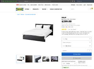 IKEA Malm King Size Bed For Sale
