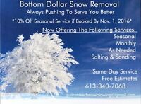 Rates lower then the cost of a purchasing a new snow blower