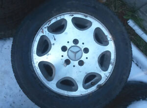 4 michelin green x tires 195/65 R15 – with rims for Mercedes