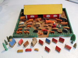 Farm House Wooden Handcrafted Animals Toys Waldorf Ostheimer