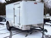 Remorque fermée neuve 6 x 10 essieu 3500 lbs