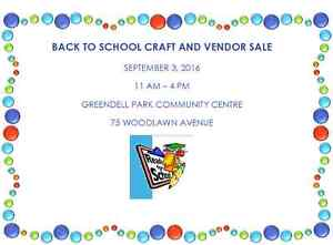 Back to School Craft and Vendor Sale
