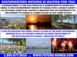 CONSIDER A MOVE TO CANADA'S FURTHEST SOUTHERN POINT!