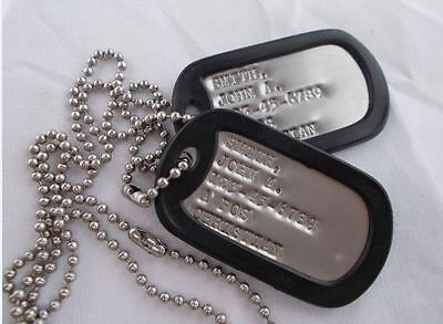 Real Standard Military Dog Tags Dogtags Made Just For U