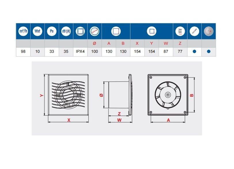 ventilateur pour salle de bain 4 100mm clapet anti retour minuteur. Black Bedroom Furniture Sets. Home Design Ideas