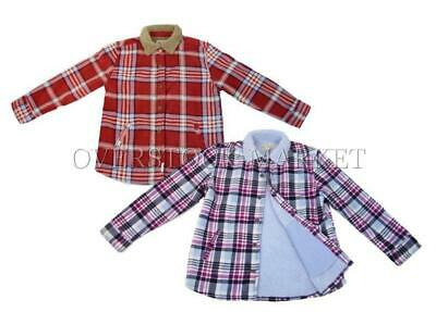 Girls Sherpa Lined Jacket (NEW! GIRL'S SOHO THREADS GIRLS PLAID FLEECE SHERPA LINED JACKET!)