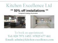 ** 50% off Kitchen/Bathroom Installations **