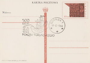 Poland postmark GDANSK - 500 ann. of Peace of Torun map ship - <span itemprop=availableAtOrFrom>Bystra Slaska, Polska</span> - Poland postmark GDANSK - 500 ann. of Peace of Torun map ship - Bystra Slaska, Polska