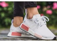 NEW Adidas NMD R2 White Icey Pink primeknit boost sole size 6 RARE