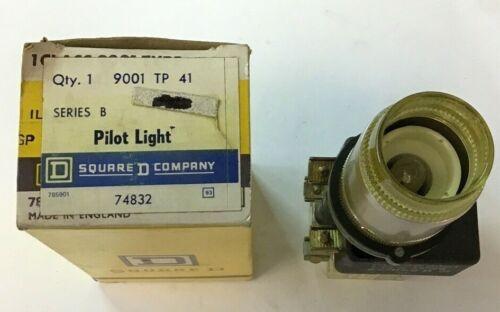 SQUARE D 9001 TP41 SER.B PILOT LIGHT  W/O LENS