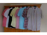 Bundle of men's short sleeve shirts.