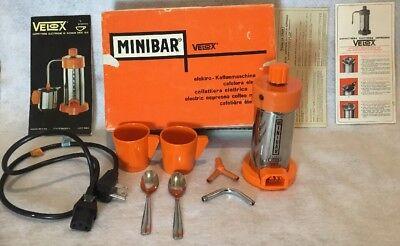 Orange Espresso Maker - Brevetto Velox Mini Bar Portable Espresso Coffee Maker 1-2 Cup Orange 18/8