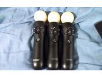 Official playstation move controllers 20 pounds each