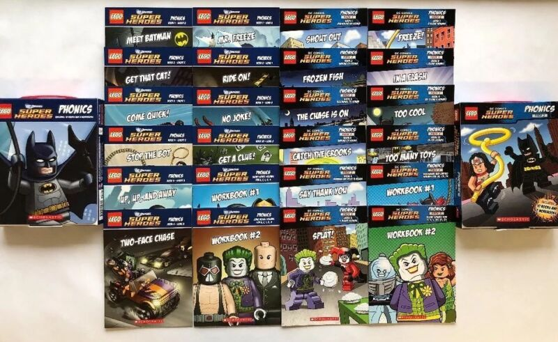 Lego DC Superheroes Phonics Learning to Read Box Set Pack 1 + 2 Lot 24