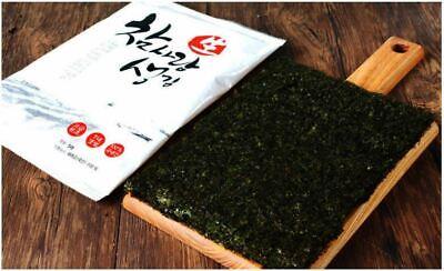 Chamsarang Korean Premium Twice Roasted Seaweed Laver | 10 Packs with 5 Sheets