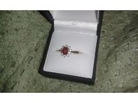Genuine Ruby and Sapphire Ring