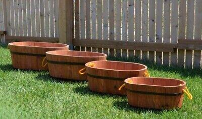 Set composto da 4 fioriere in legno, diverse misure