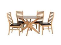 Boston Dining Set - Natural Oak